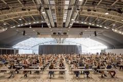 Von den österreichweit insgesamt 15.000 MedAT-Bewerber, warteten in Linz fast 600 Medizin-AspiratInnen auf den Beginn des Tests.