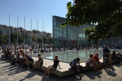 Bevor es in Wien losging, war zumindest das Wetter gut, damit sich alle MedAT-Bewerber noch einmal in Ruhe an der frischen Luft entspannen konnten.
