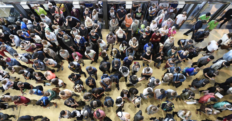Aufnahmetest der Med Uni Graz in der Messehalle 2800 Teilnehmer