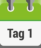 Kalenderblatt Tag 1