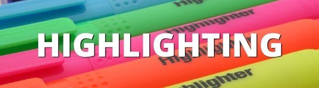 verschieden farbene Textmarker