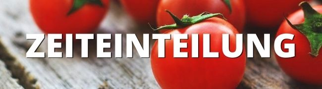 Tomaten auf Holz, pomodoro-Methode